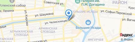 Веломастерская на карте Астрахани