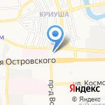 Гепард на карте Астрахани