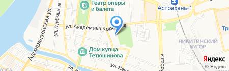 Специальная коррекционная общеобразовательная школа-интернат для глухих детей на карте Астрахани