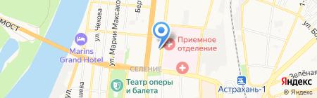 Астраханский учебный центр Федеральной противопожарной службы на карте Астрахани