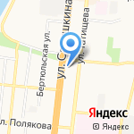 Вулкан на карте Астрахани