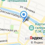 Песочница на карте Астрахани