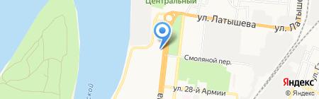 Свеча на карте Астрахани