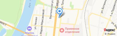 Акконд на карте Астрахани