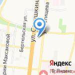 Банк Уралсиб на карте Астрахани