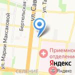 Штиль на карте Астрахани