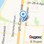 Киоск по продаже консервированной продукции на карте Астрахани
