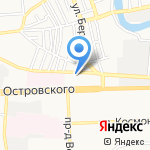 Единая служба заказа пассажирского легкового транспорта на карте Астрахани
