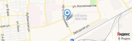 Магазин канцтоваров и нижнего белья на проезде Воробьёва на карте Астрахани