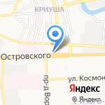 Мустанг на карте Астрахани
