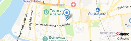 Паллада на карте Астрахани