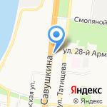 Аллея пива на карте Астрахани
