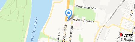 Магазин косметики и бытовой химии на карте Астрахани