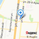 Алая роза на карте Астрахани