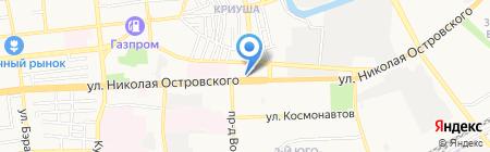 Дверной на карте Астрахани