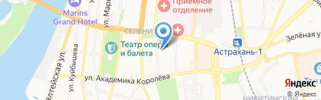 Базис СБ на карте Астрахани