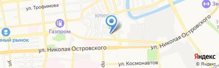 Сударь на карте Астрахани