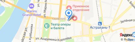 Аштар на карте Астрахани