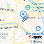 Анкер на карте Астрахани