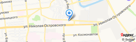 Магазин канцтоваров на карте Астрахани