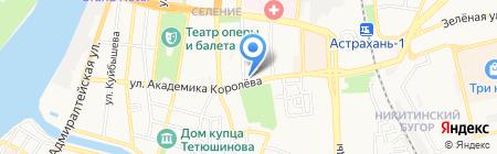 Банкомат АКБ Экспресс-Волга на карте Астрахани