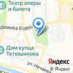Киоск по продаже сока и попкорна на карте Астрахани