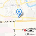 Грузолет на карте Астрахани