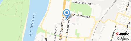 Мила на карте Астрахани