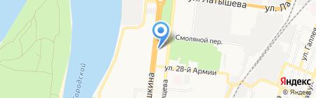 Общежитие на карте Астрахани