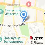 Банк Первомайский на карте Астрахани