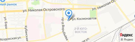 Погребок на карте Астрахани