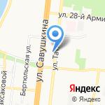 Иномарка на карте Астрахани
