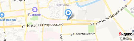Блеск на карте Астрахани