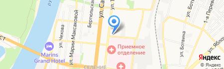 Алина на карте Астрахани