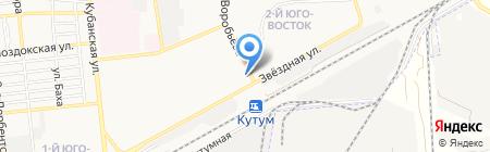 Магазин торгового оборудования и мебели на карте Астрахани