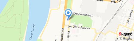 ЯПК на карте Астрахани