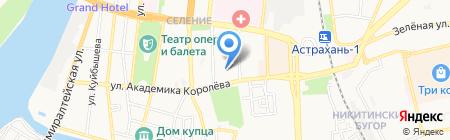 Детский сад №92 на карте Астрахани