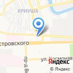 Ночной Город на карте Астрахани