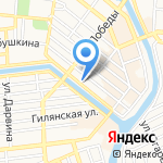 Habez на карте Астрахани