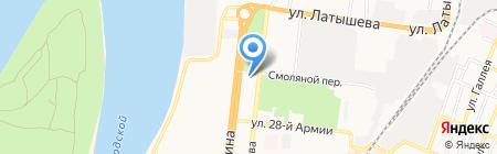 КаспНИРХ на карте Астрахани