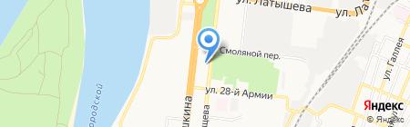 Ленинский районный суд на карте Астрахани