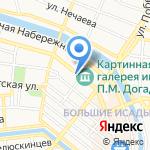 Руслес на карте Астрахани