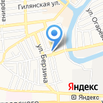 Батоша на карте Астрахани