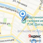 Пенное на карте Астрахани