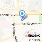 Киоск по продаже фруктов на карте Астрахани
