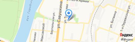 Golden fork на карте Астрахани