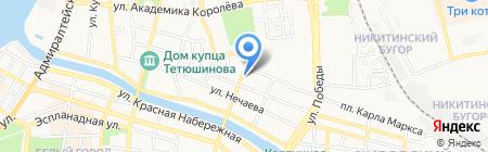 Гарант на карте Астрахани