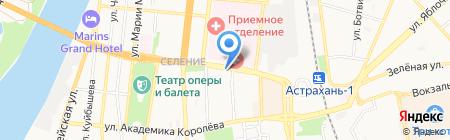 Дюна на карте Астрахани