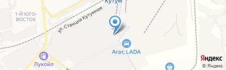 Волтаир в Астрахани на карте Астрахани