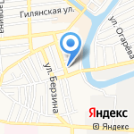 Гастроном на карте Астрахани
